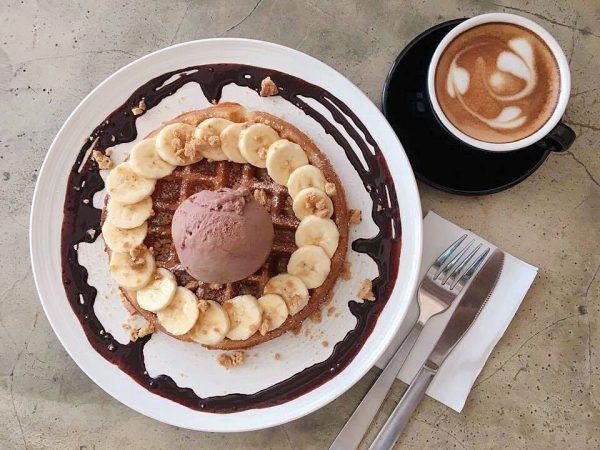 carrara cafe best waffles in singapore that taste like banana crumble