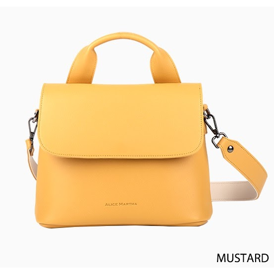 korean bag brands alice martha rosie shoulder bag yellow