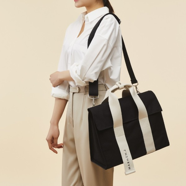 korean bag brands marhen j roy bag black white