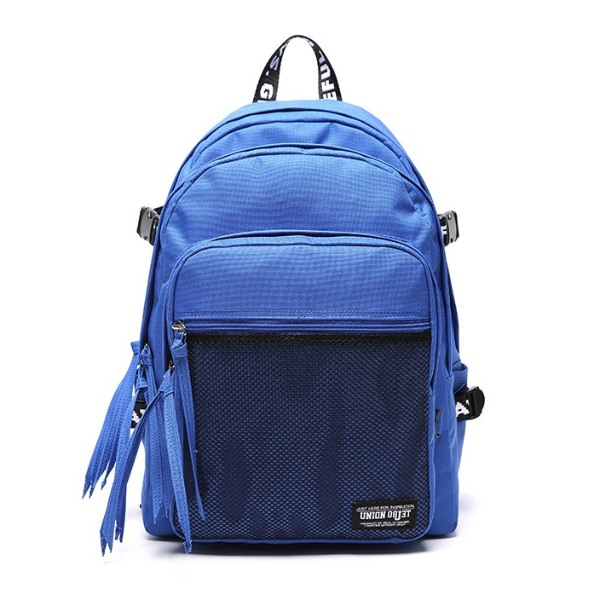 korean backpack brands unionobject 3d mesh backpack blue
