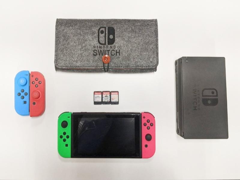 best nintendo switch games flatlay