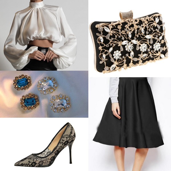 puff sleeve blouse summer fashion glamorous formal event outfit
