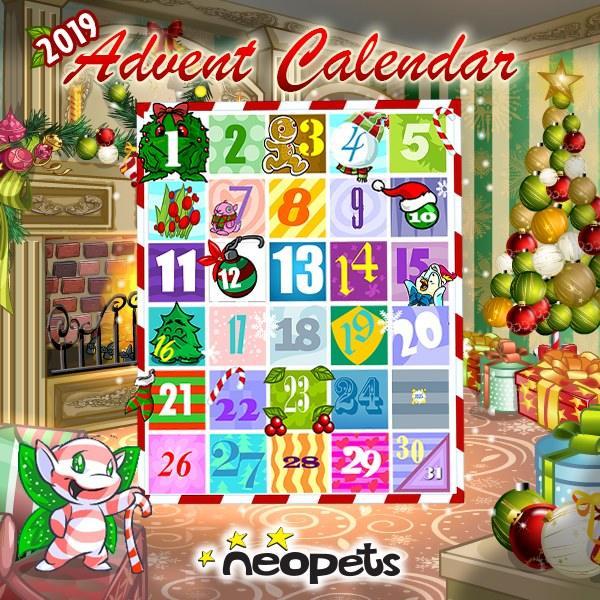 advent calendar neopets mobile