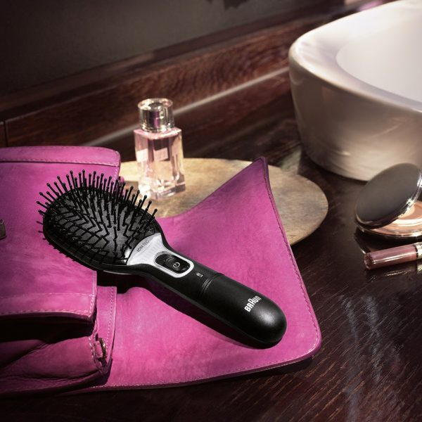 best hair straightener brush in singapore from braun with display buttons