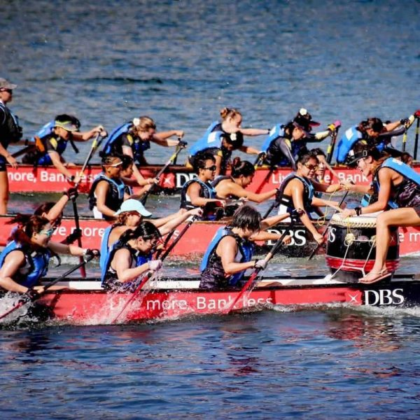 teams competing in dragon boat racing