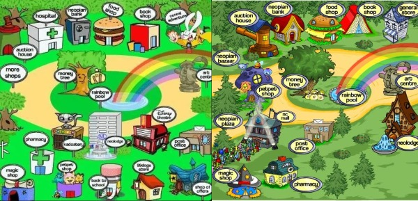 neopia central collage neopets mobile