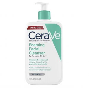 best cerave products foaming facial cleanser
