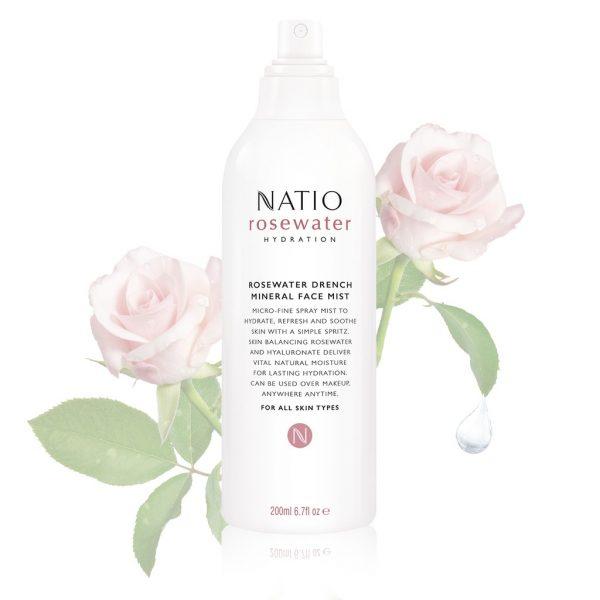 natio rosewater best facial mists