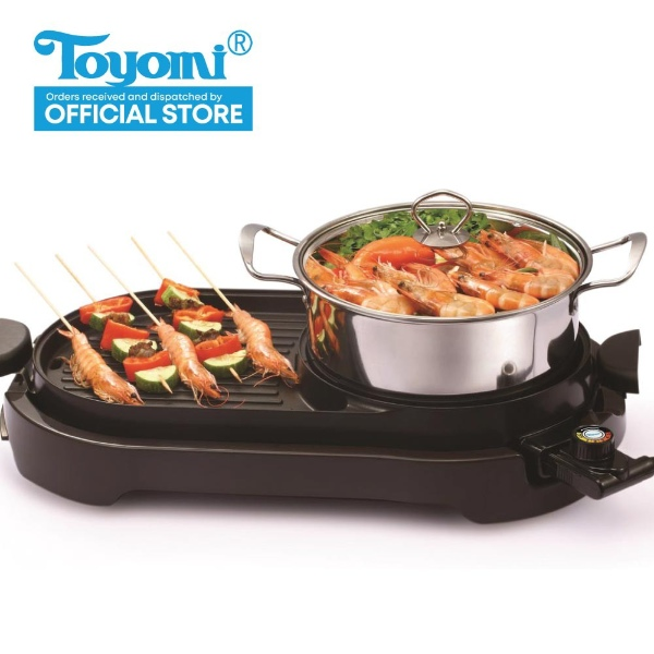 toyomi electric bbq grill and steamboat best steamboat pot singapore