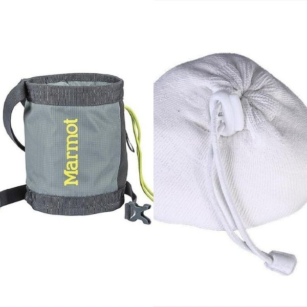 rock climbing for beginner chalk ball and chalk bag