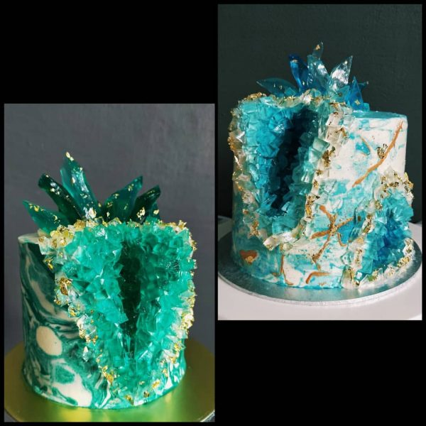 21st birthday cake singapore crystal geode cake