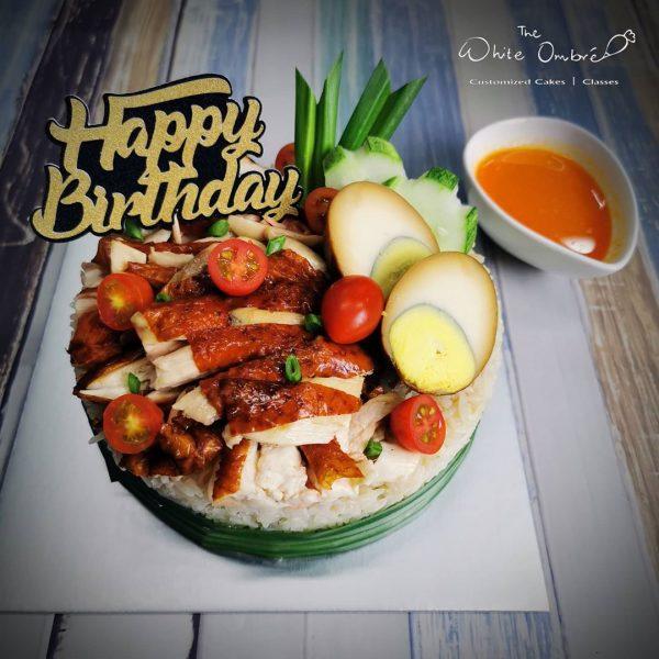 21st birthday cake singapore hainanese chicken rice cake