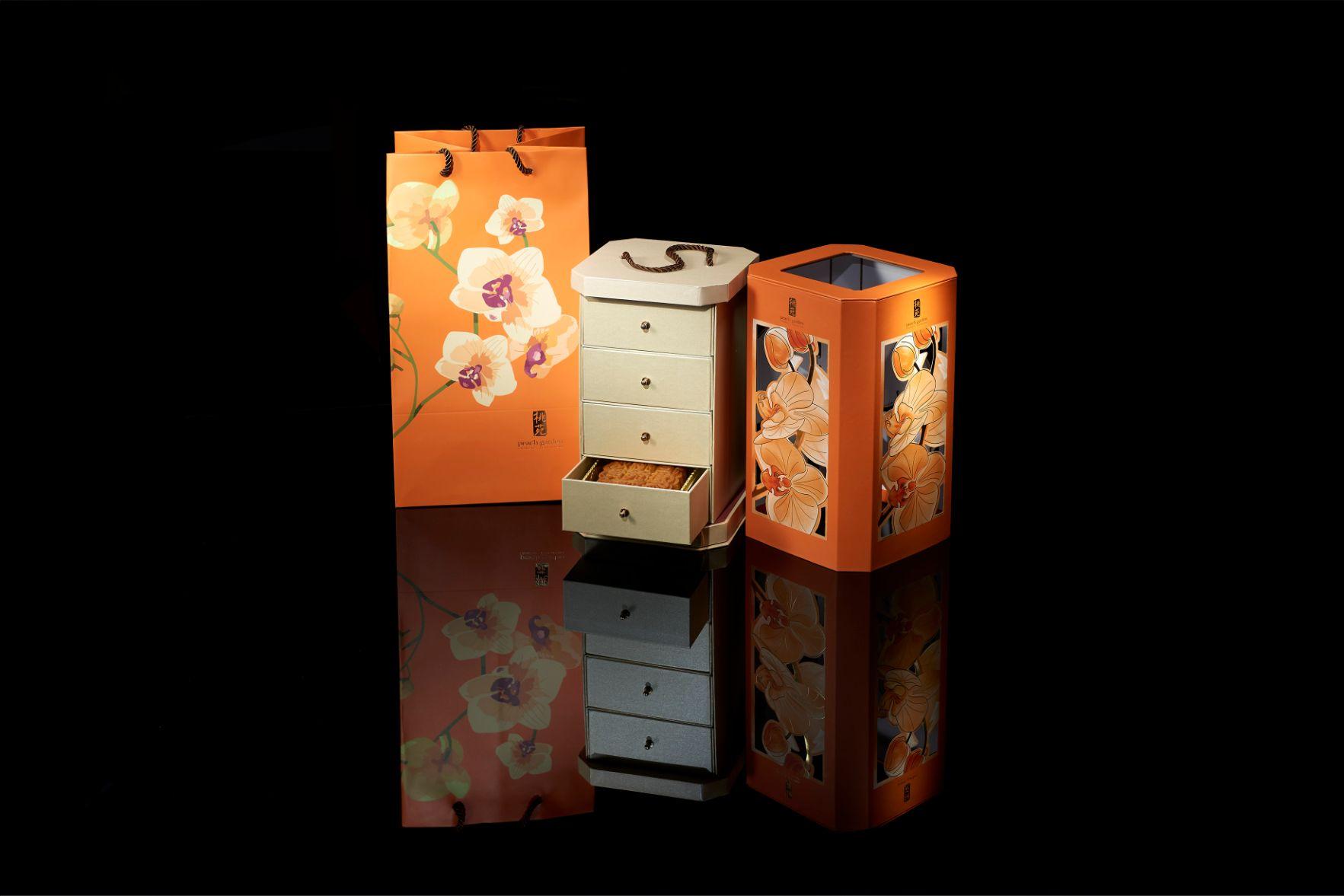 peach garden mooncake box design