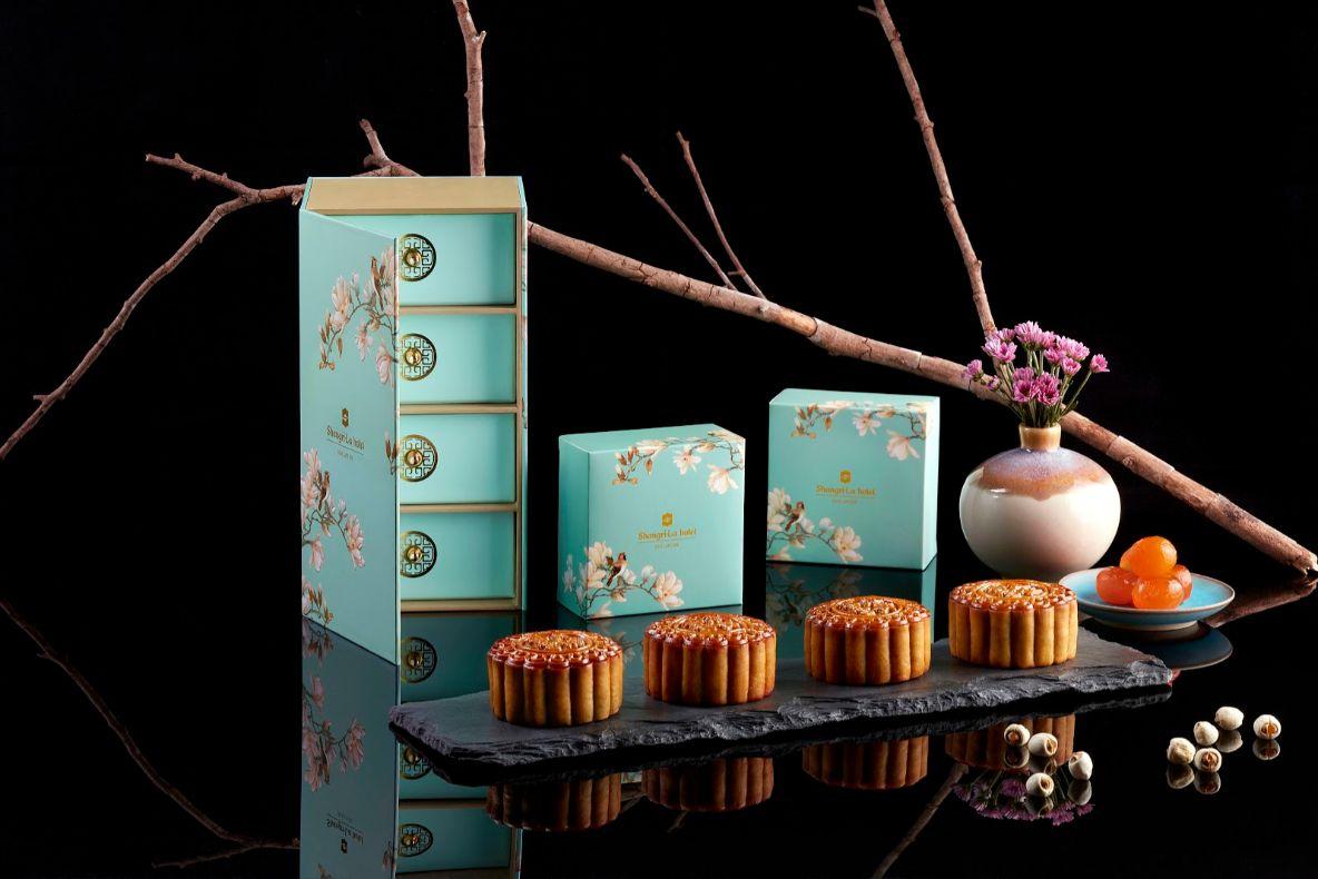 shangrila reduced sugar mooncake box design 2020