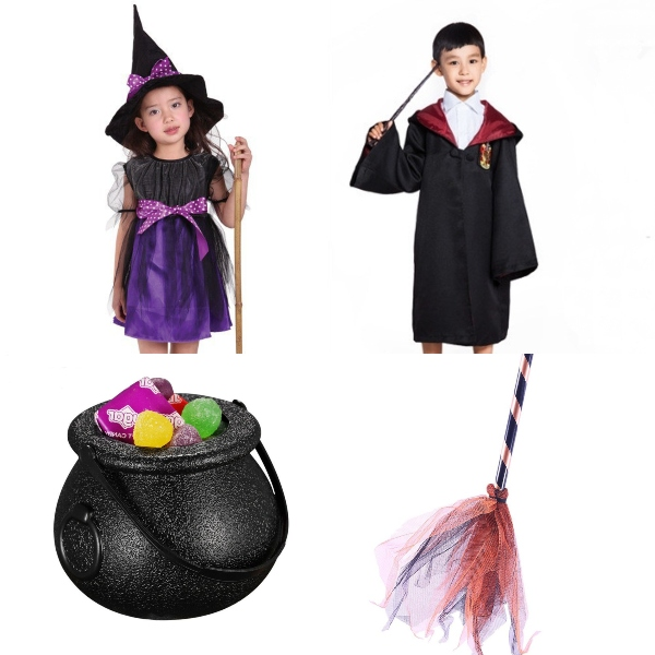 wizard witch kids halloween costume idea