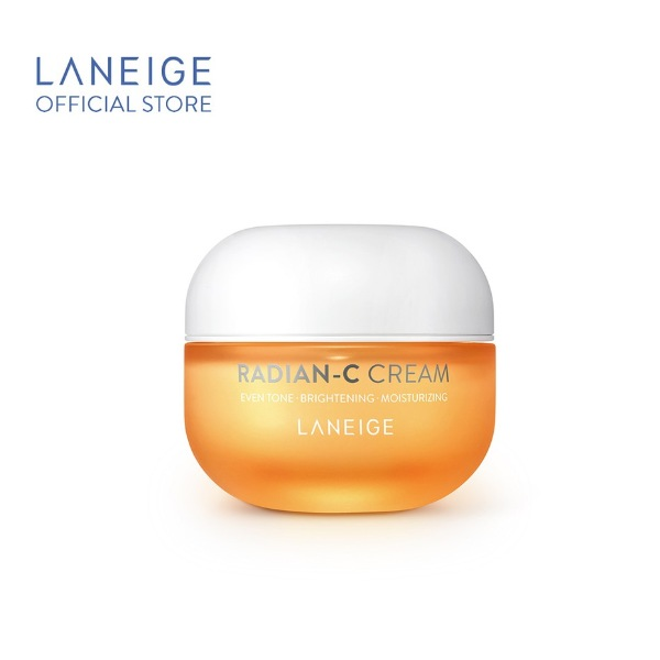laneige best seller radian-c cream orange jar whitening diminish dark spots