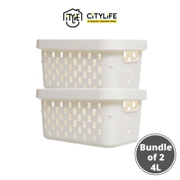 how to organise kitchen with houze storage box basket stackable white save space
