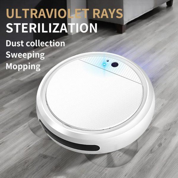 disinfecting robot vacuum uv blue light