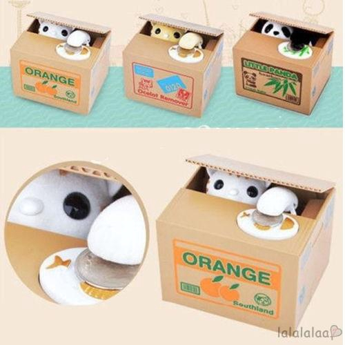 Gifts for cat lovers automatic piggy bank