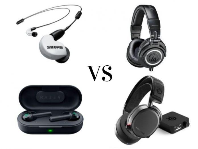 headphones vs earphones featured image