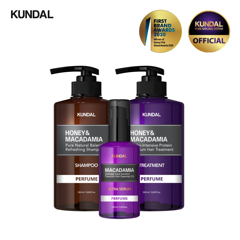 kundal honey and macadamia shampoo review with conditioner and serum