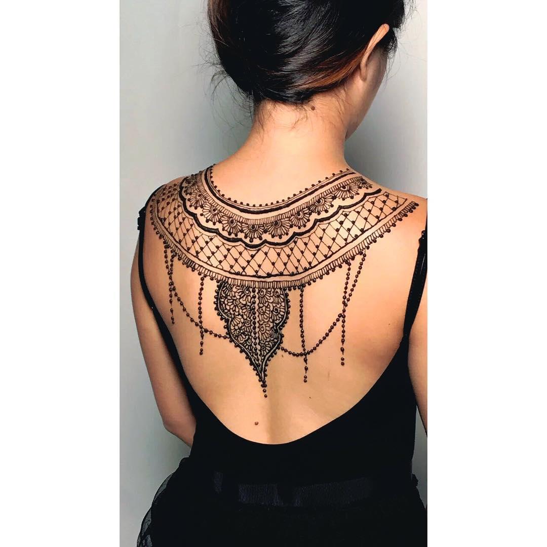 back henna design deepavali henna
