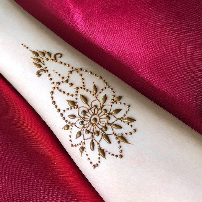 deepavali henna arm mandala design