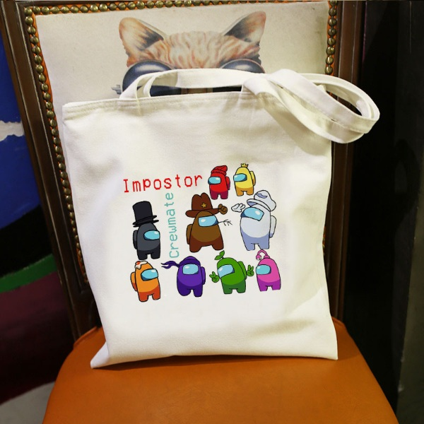 among us merchandise tote bag how to play among us
