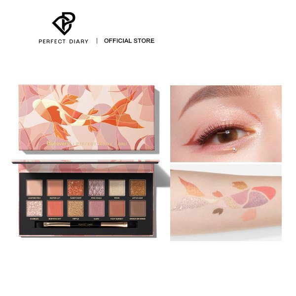 perfect diary review fancy carp eyeshadow palette