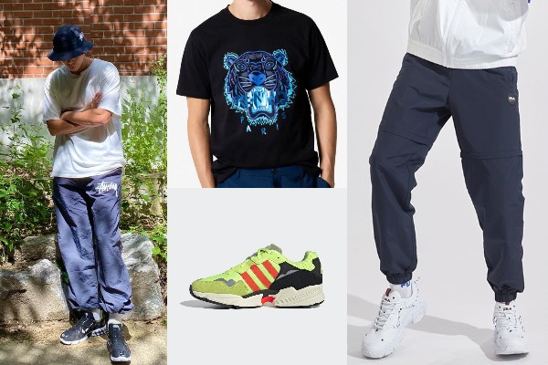 park seo joon oversized shirt korean joggers fila adidas kenzo