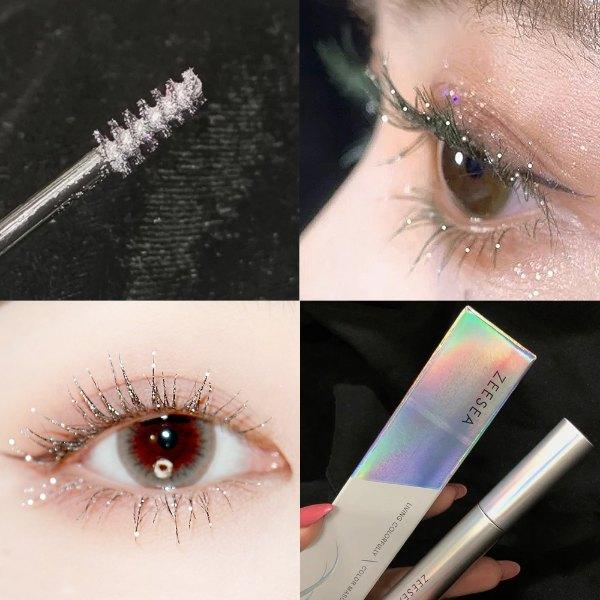 zeesea review silver diamond colourful mascara glitter eye makeup