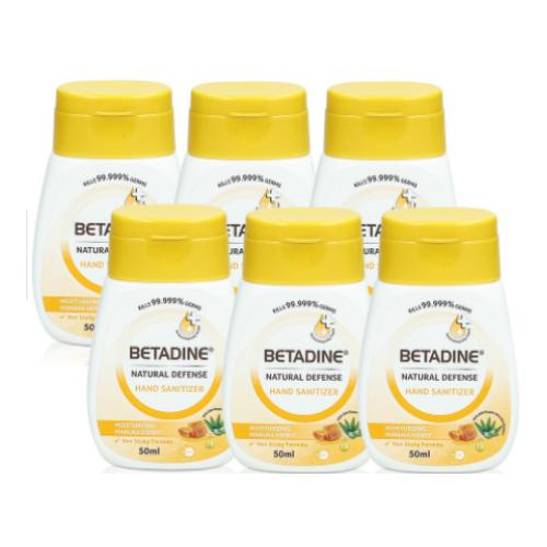 Betadine Natural Defense Hand Sanitizer Moisturizing Manuka Honey