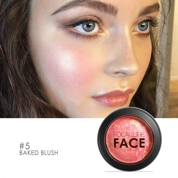 how to apply blush square shape face focallure baked blush shimmery