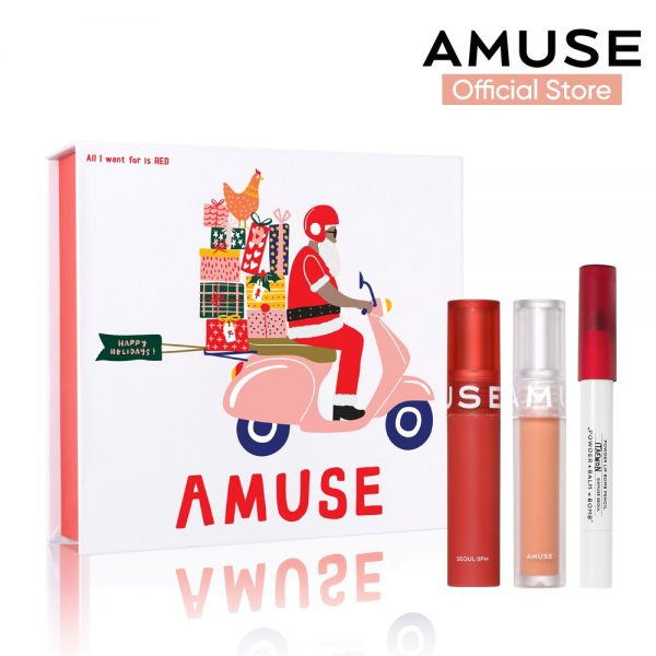 christmas makeup gift set amuse holiday kit lip products
