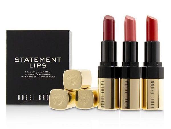 christmas makeup gift sets bobbi brown statement lips luxe lip colour trio