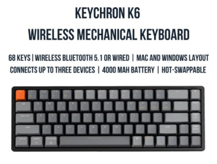 keychron k6 best mechanical keyboards singapore