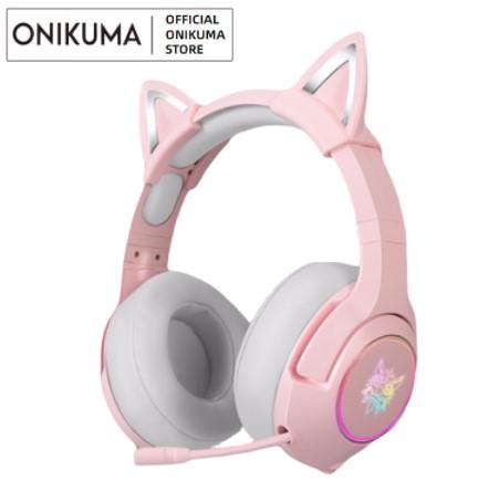 onikuma pink k9 headphones gaming brand