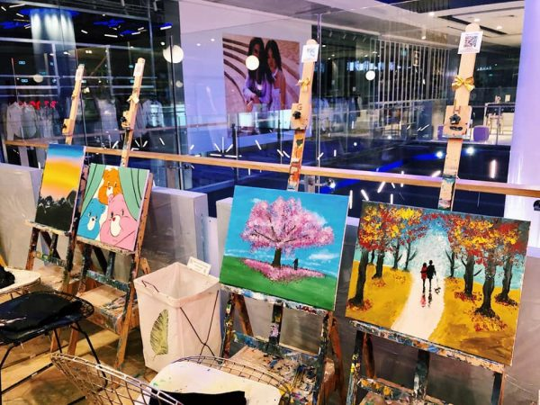 art jamming singapore cafe de paris food and drinks painting scenery town