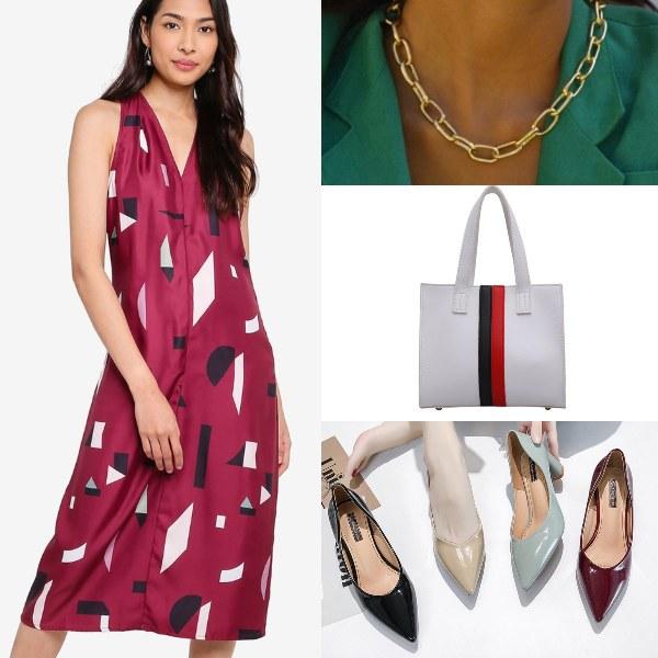 chinese new year clothes girl boss zalora dress gold chain
