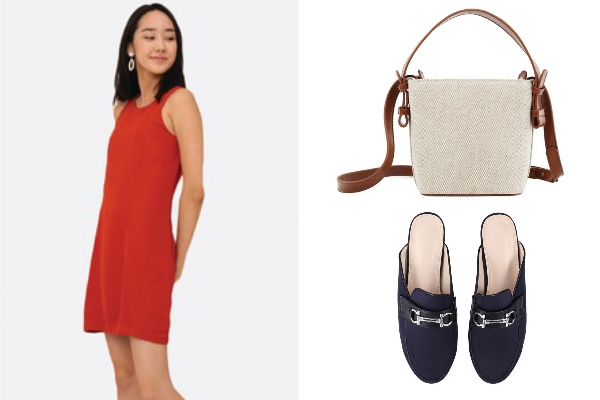chinese new year clothes 2021 red dress bag mules