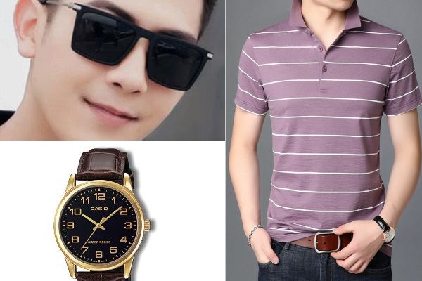 chinese new year clothes for men laid back dad polo tshirt sunglasses casio watch