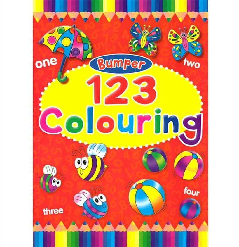1 2 3 colouring books for kids