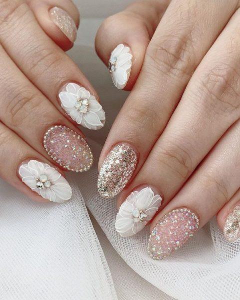 eunicetannails chinese new year manicure