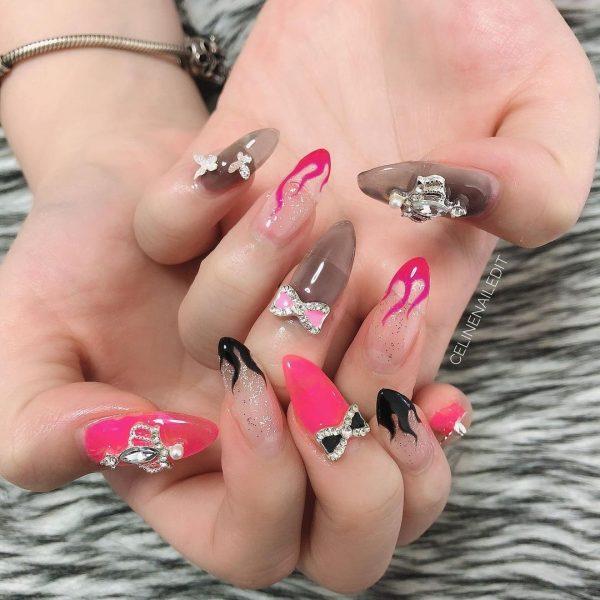 celinenailedit nail extensions gel manicure service home based nail salon