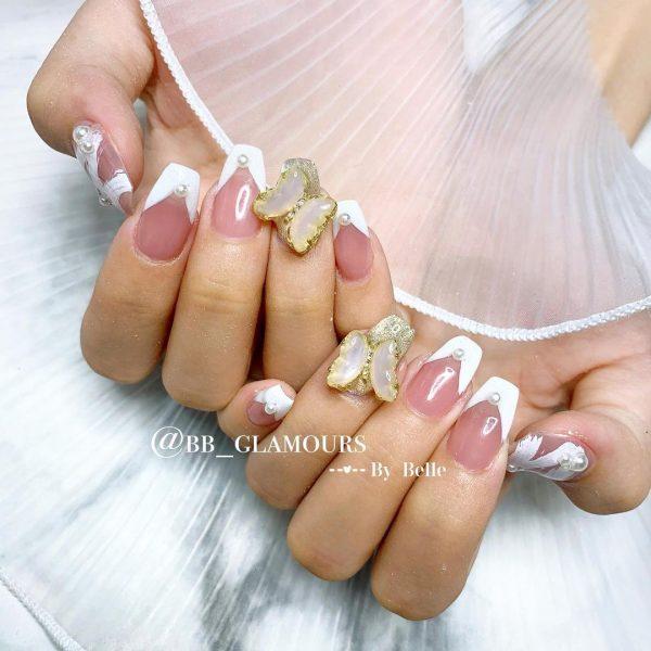 home based nail salon sengkang singapore french tips nail design butterfly