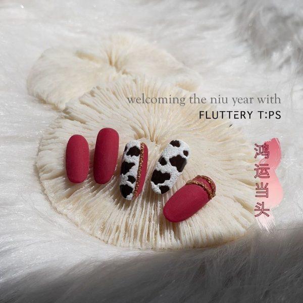 affordable nail salon singapore cow print velvet red west