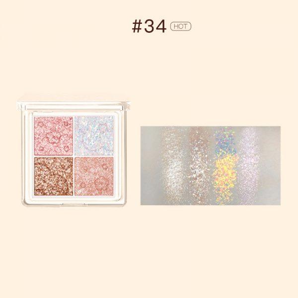glitter eyeshadow judydoll soft cloud 4 colours eyeshadow palette 34 crystal sugar