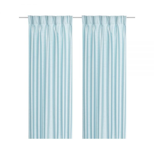 lucky colour monkey zodiac bright blue texbook zara indigo window curtain plain french pleat