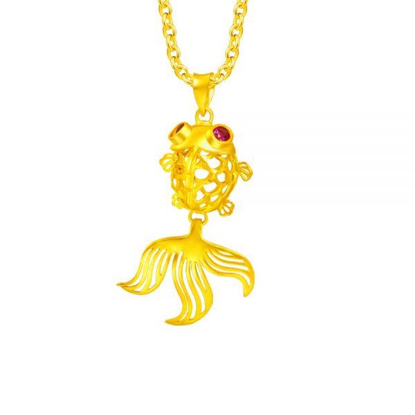 feng shui colours rabbit gold moneymax jewellery 916 love gold lucky charm prosperity fish pendant