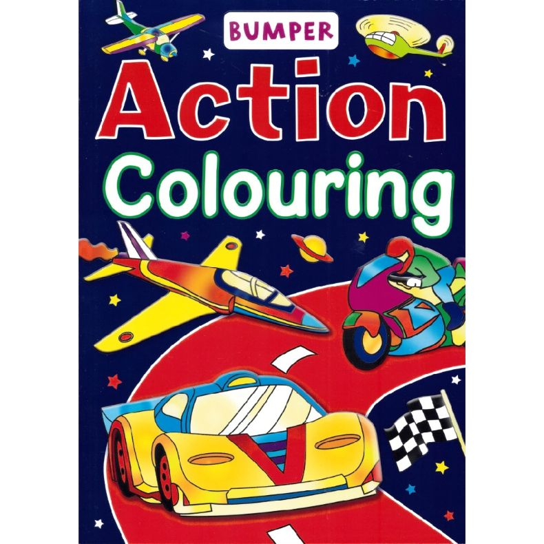 action colouring book for kids